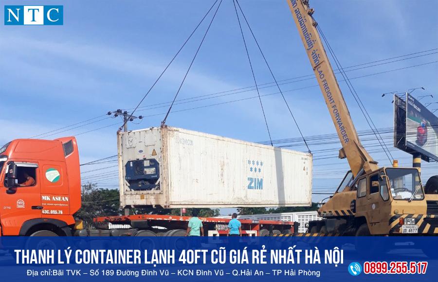 NTC Container thanh lý container lạnh 40ft cũ giá rẻ nhất hà Nội